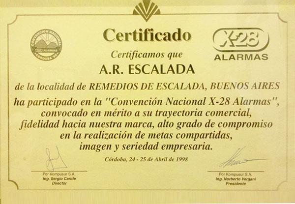 Convención nacional X-28 Alarmas